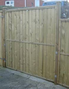 Treated Fencing Panels