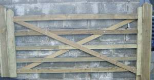 Treated Wooden Gates